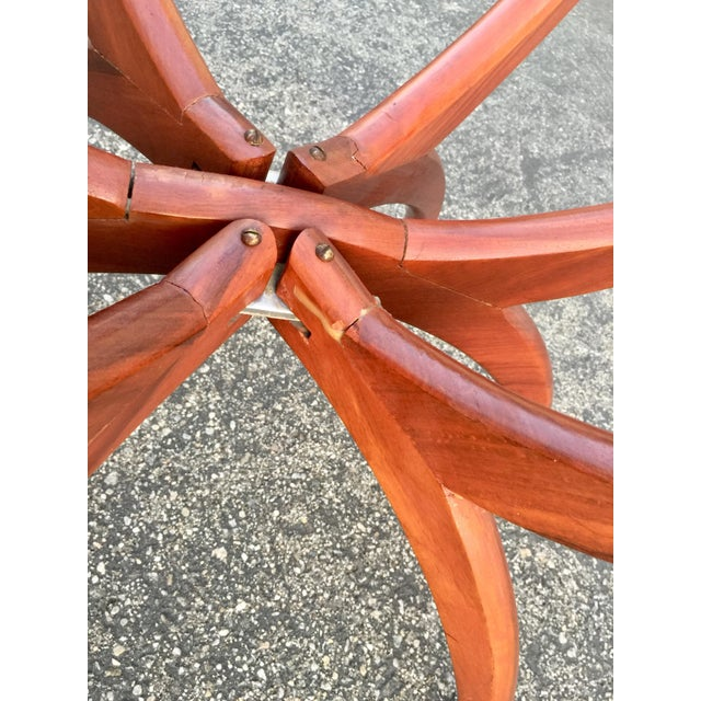 1960s Mid-Century Modern Teak Spider Leg Table For Sale - Image 5 of 9
