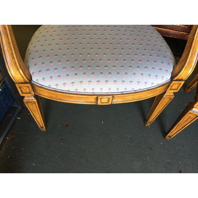 Pair of William Switzer bergers. Silk upholstery with nicely detailed frames. Frame and upholstery in excellent condition....