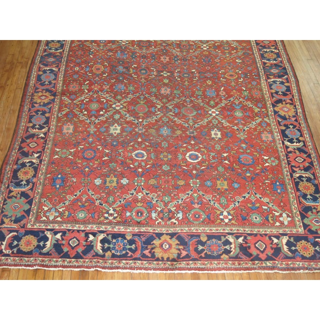 "Antique Persian Mahal Rug - 9'2"" X 13' For Sale - Image 4 of 7"