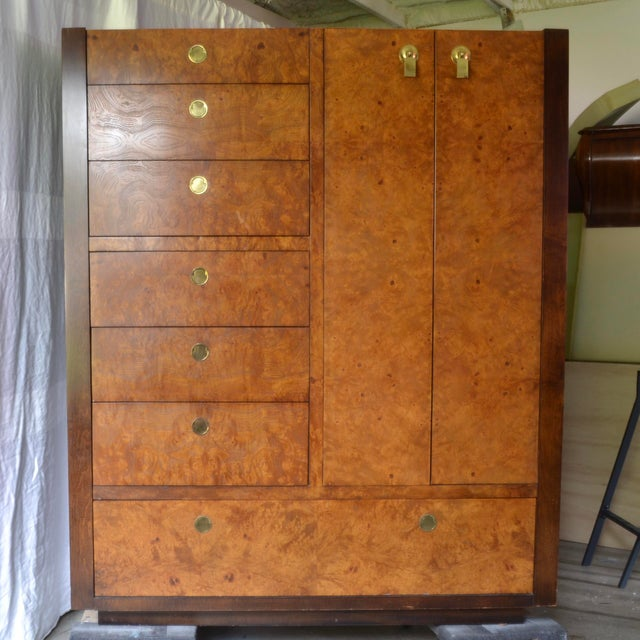 1970s Chinoiserie Century Furniture Olivewood Dresser For Sale - Image 12 of 12