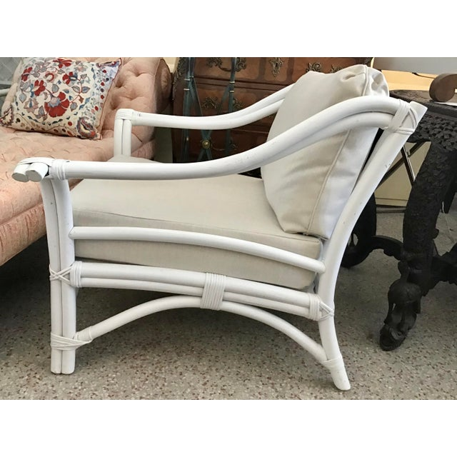 1960s Vintage Ficks Reed Club Chair For Sale In West Palm - Image 6 of 8