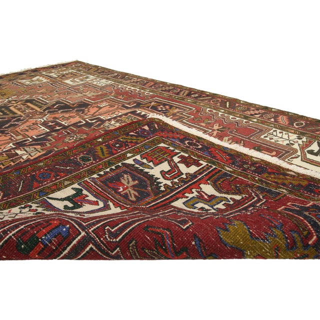 1950s Vintage Persian Heriz Rug with Modern Style - 4′10″ × 7′6″ For Sale - Image 5 of 5