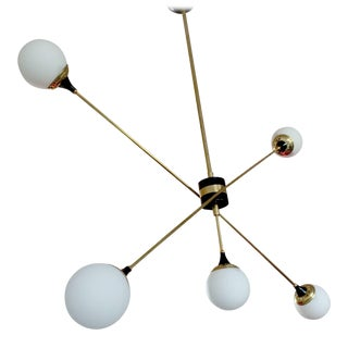 "Stilnovo Style ""X"" Chandelier For Sale"