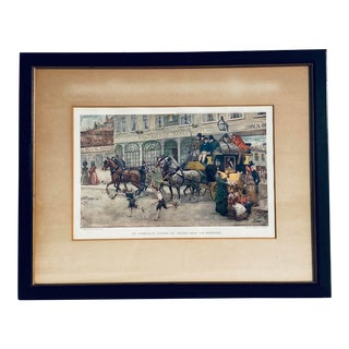 """A. Ludovici's """"The Pickwickians Leaving the 'Golden Cross' for Rochester"""" Framed Print For Sale"""