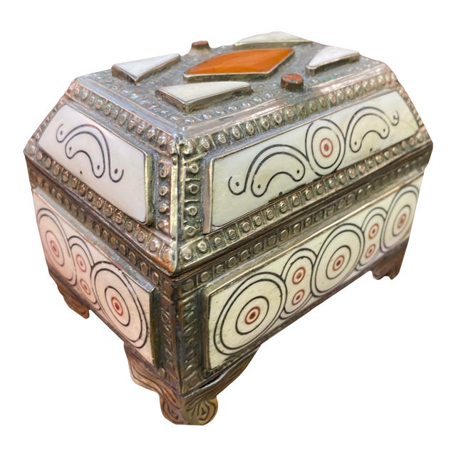 1960s Moroccan Inlaid Box For Sale