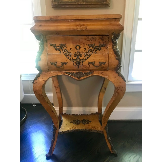 Louis XVI Burlwood Jewelry Chest For Sale - Image 10 of 10