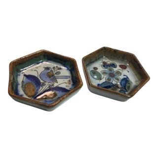 Ken Edwards Octagonal Studio Pottery Art - a Pair For Sale