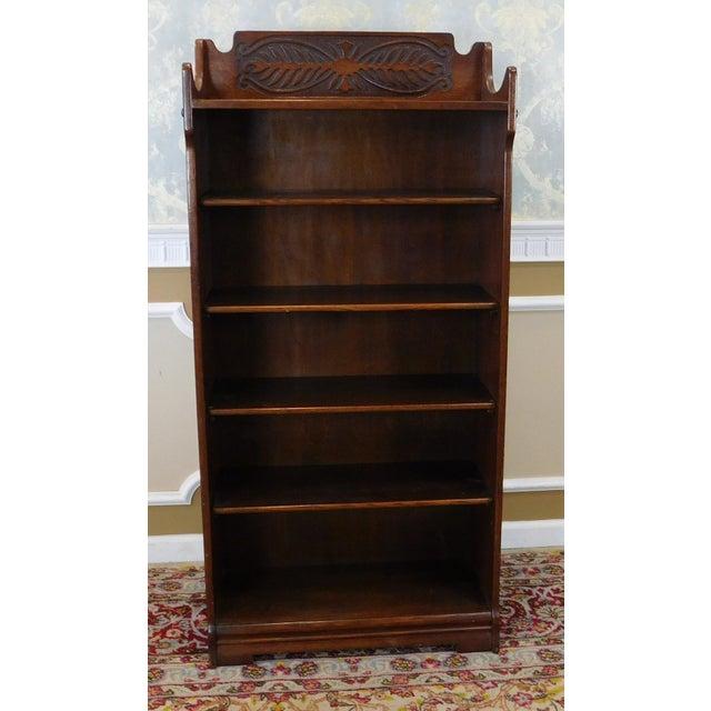 Antique 1920's Art-Nouveau Oak Bookcase - Image 2 of 7