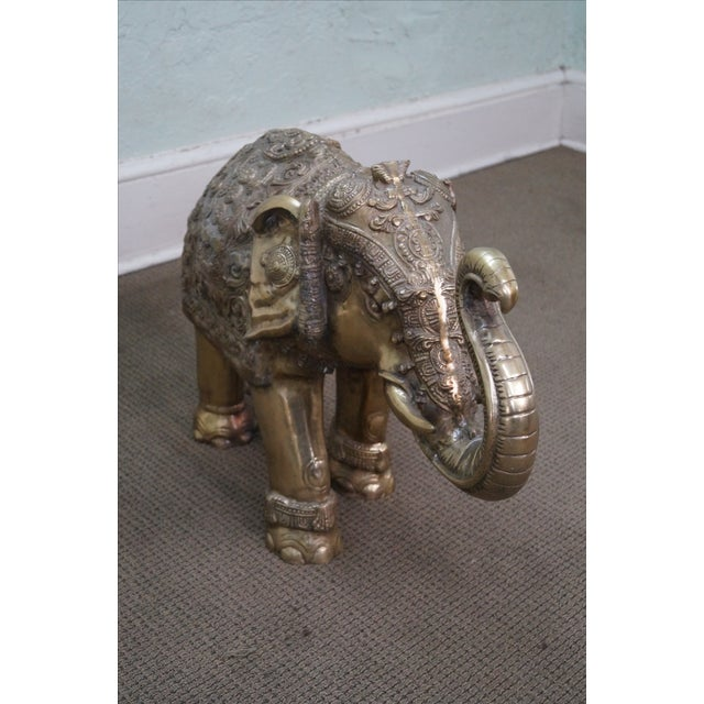 Vintage Brass Asian Elephant Statue - Image 5 of 10
