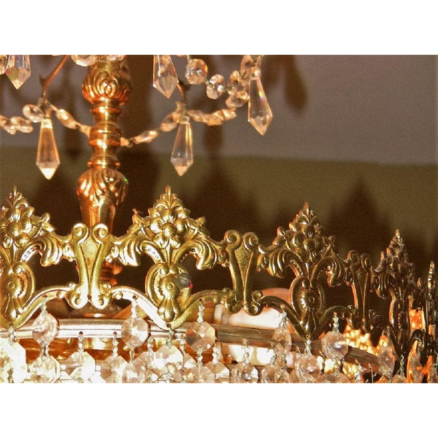19c French Crystal Ormolu Chandelier For Sale In Dallas - Image 6 of 8