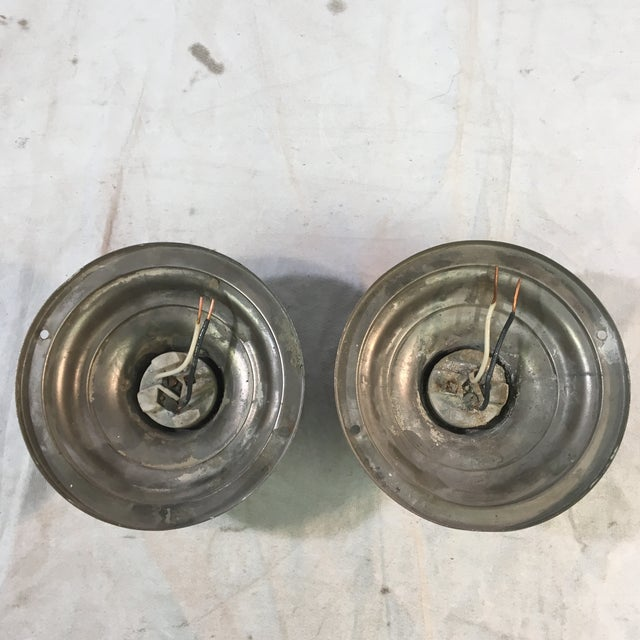 1920s Art Deco Neoclassical Single Bulb Flush Mounts - a Pair For Sale - Image 4 of 9