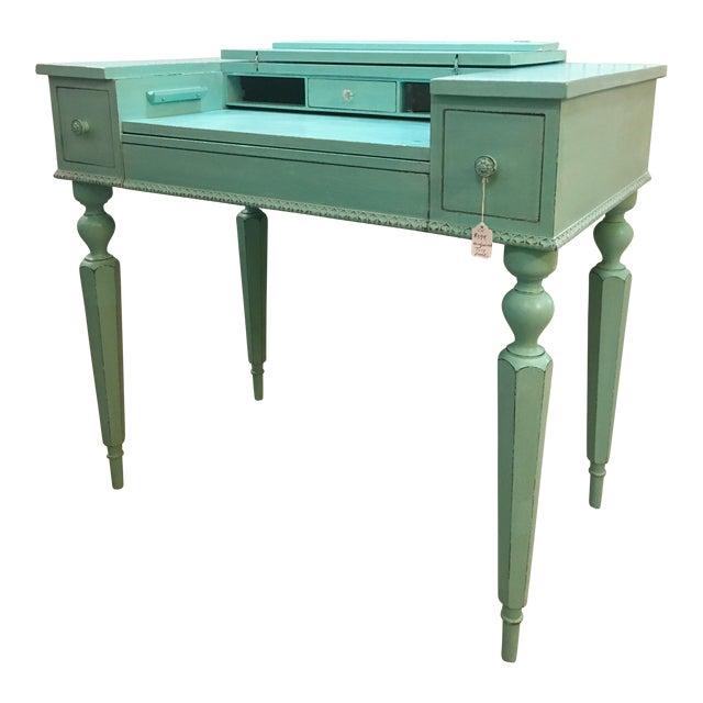 Seafoam Green Antique Desk - Image 1 of 6