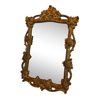 Vintage Leaf Pattern Mirror For Sale