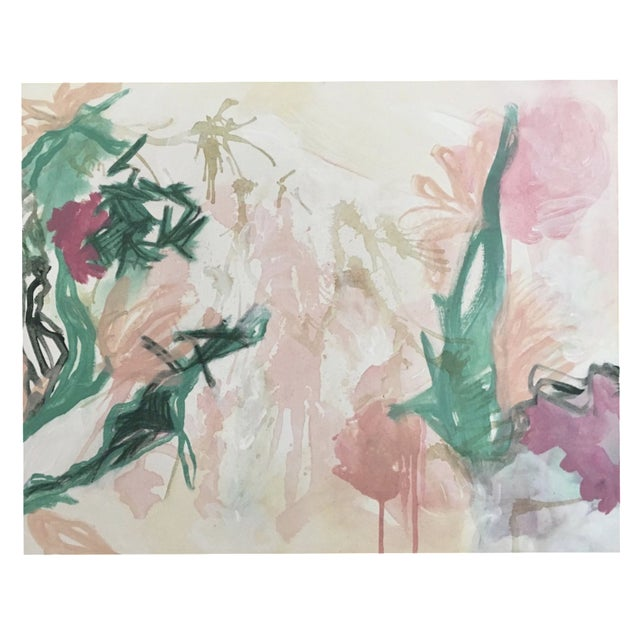 "Lindsey Weicht ""Flora No. 7"" Abstract Painting For Sale"