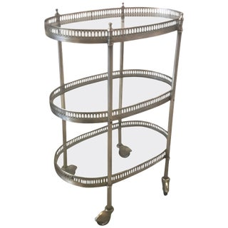 Small Three-Tiered Drinks Beverage Cart For Sale