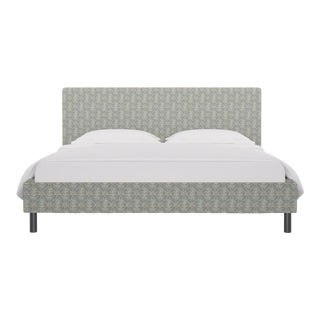 California King Tailored Platform Bed in Starburst For Sale
