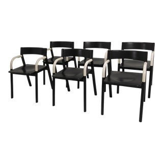 1980s Vintage Custom Italian Dining Chairs - Set of 6 For Sale
