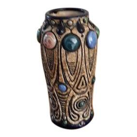 Amphora Art Nouveau Pottery Vase For Sale