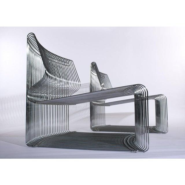 Silver Verner Panton for Fritz Hansen Pantonova Chairs C. 1971 - a Pair For Sale - Image 8 of 8