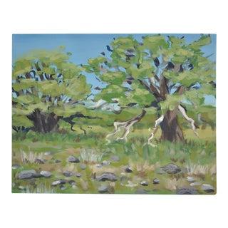 Oak Meadow Acrylic Painting