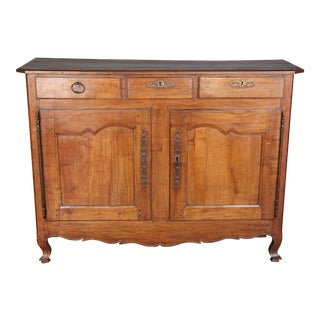 Antique 19th Century Fruitwood Louis XV Buffet For Sale