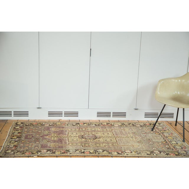 "Vintage Distressed Oushak Runner - 3'8"" X 6'10"" - Image 2 of 10"