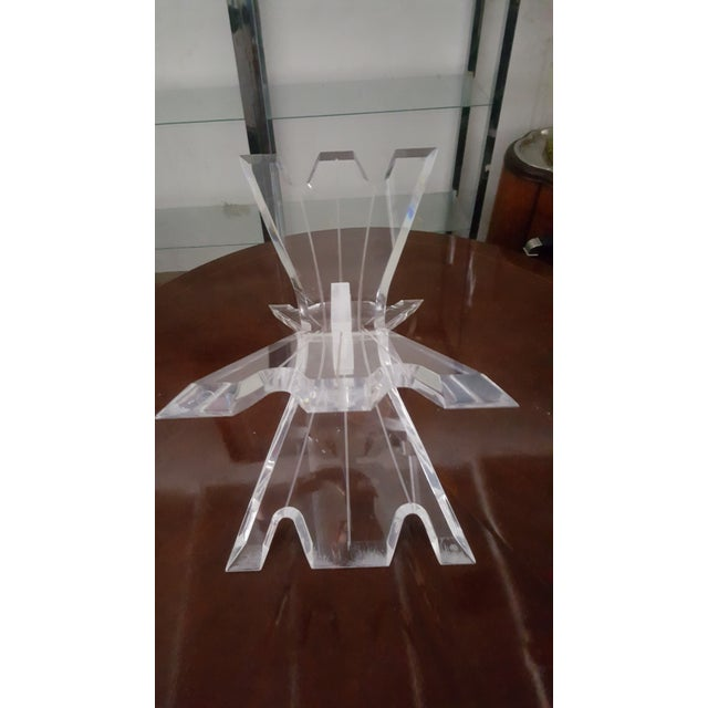 Hollywood Regency Lucite Butterfly Table Base - Image 4 of 7