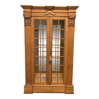 Antique Lighted Display Cabinet For Sale