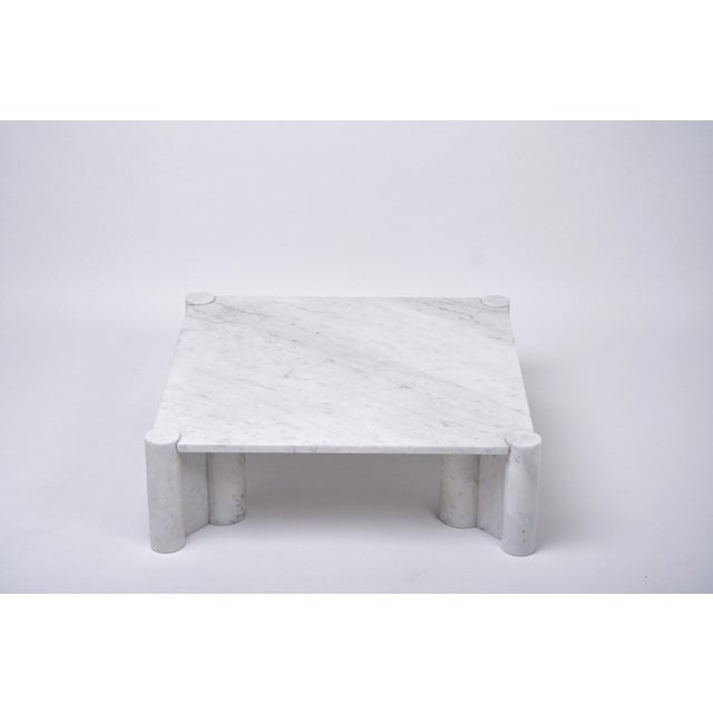 Jumbo White Marble Coffee Table by Gae Aulenti, 1970s For Sale - Image 11 of 11