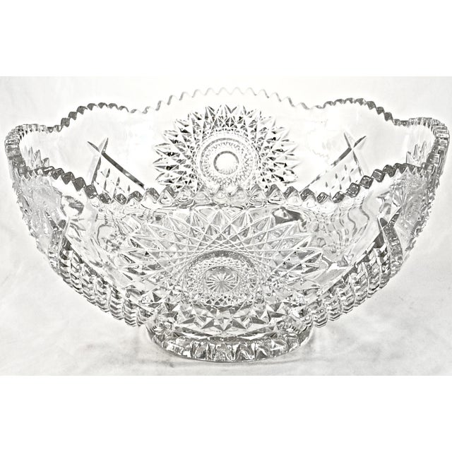 "14"" Eapg Hobstar Bowl - Image 3 of 3"