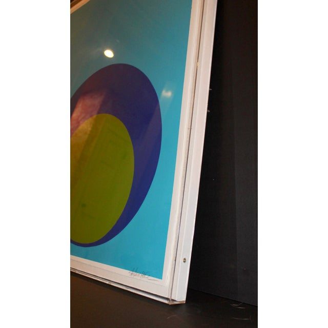 2010s Double Dot on Turquoise in Acrylic Box For Sale - Image 5 of 7