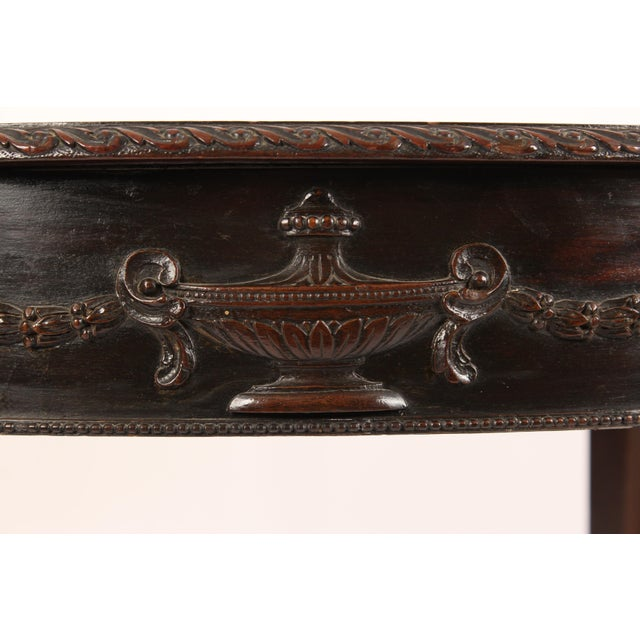 1910s English Neo Classical Style Mahogany Center Table For Sale - Image 5 of 13