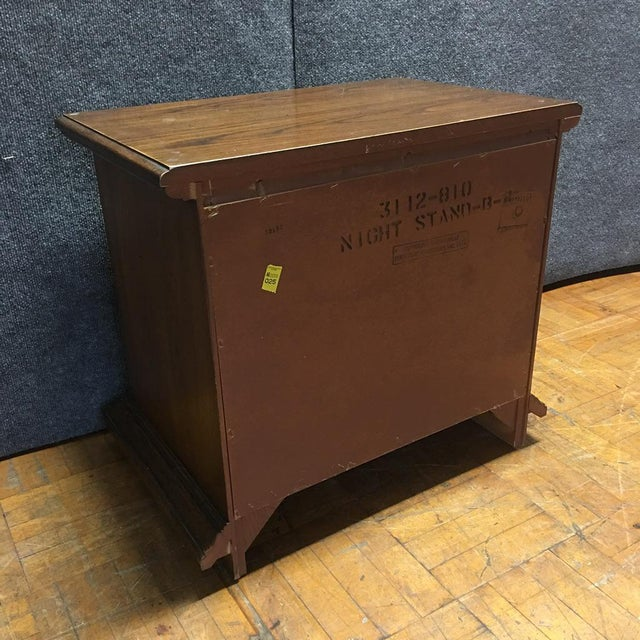 Thomasville Mid-Century Wooden Nightstands- A Pair - Image 9 of 9