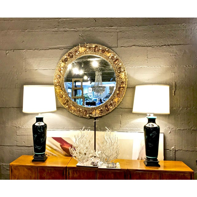 Late 20th Century Vintage Maitland-Smith Shell Mirror For Sale In Los Angeles - Image 6 of 7