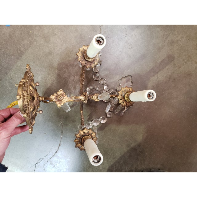 Highly Detailed Belle Epoque Style Sconces (Pair) For Sale - Image 10 of 13