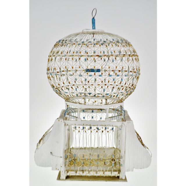 Antique French Victorian Dome Top Wire Bird Cage For Sale - Image 13 of 13