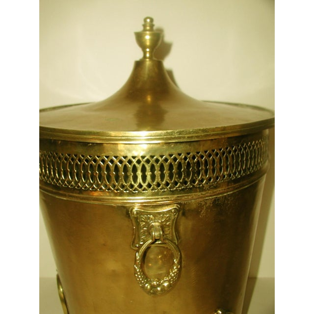 English Early 1900's Brass Coal Hod - Image 5 of 10