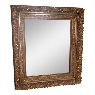 1900s Antique Gilt Baroque Style Mirror For Sale