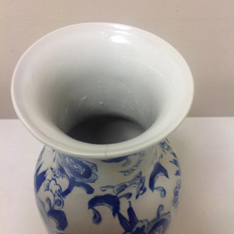 Chinoiserie Blue & White Vase Collection - 4 Pc. - Image 8 of 8