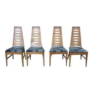 Kent Coffey Cat Eye Chairs - Set of 4