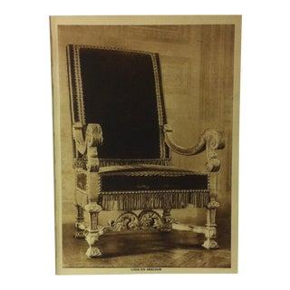 "Circa 1915 ""Louis XIV Armchair"" the Mentor Association Print For Sale"