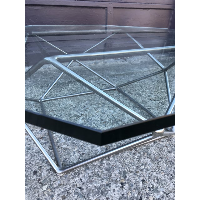 Glass Milo Baughman Sculptural Bronze Coffee Table Directional Furniture For Sale - Image 7 of 13