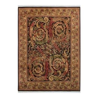 Chand Pak-Persian Bettina Black/Tan Wool Rug- 9′1″ × 11′3″ For Sale