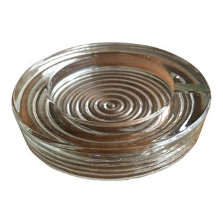 Mod Glass Ashtray For Sale
