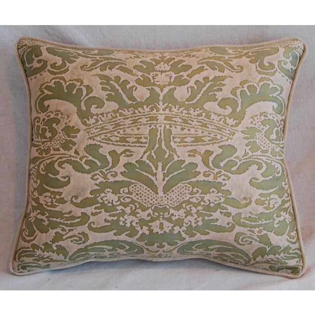 Italian Fortuny Corone Crown Down Pillows - A Pair - Image 4 of 11