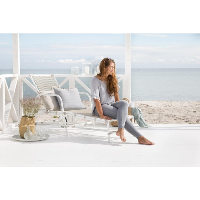 Not Yet Made - Made To Order Josephine Exterior Sun Lounger - Dove White For Sale - Image 5 of 8