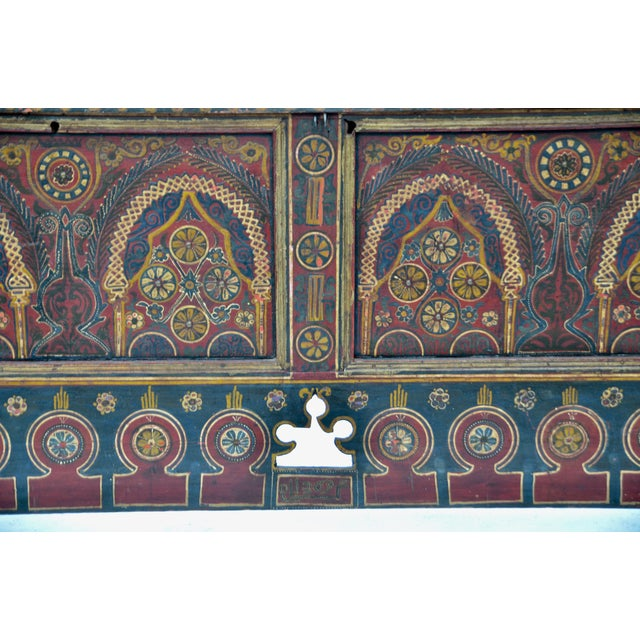Moroccan Polychrome Wedding Chest 1940s For Sale - Image 9 of 12