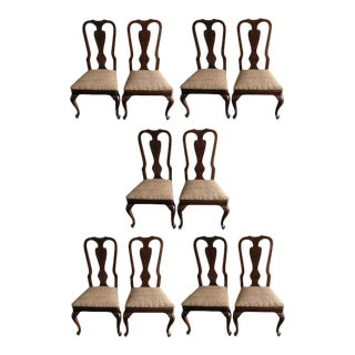 Drexel Heritage Queen Anne Style Dining Chairs- Set of Ten