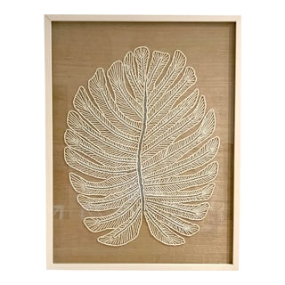 Made Goods Beaded Tropical Leaf Wall Decor For Sale
