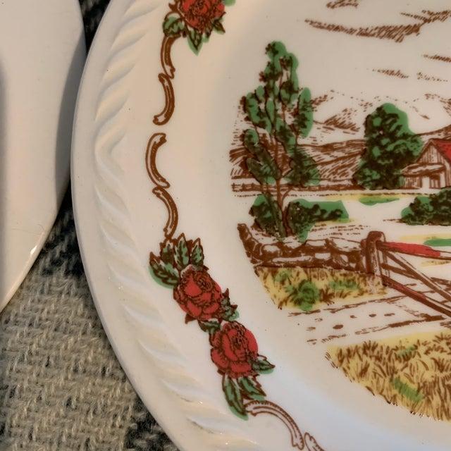 Vintage Figgjo Flint Norwegian Small Plates - Set of 6 For Sale - Image 9 of 11